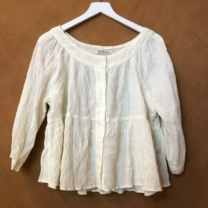 Free People simple light weight blouse size m